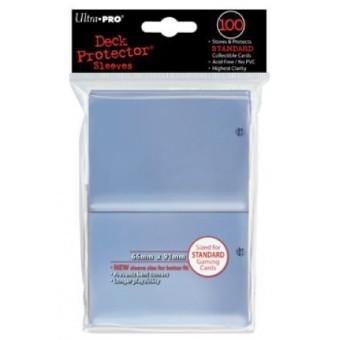 100 pochettes de plastique transparent pour protéger des cartes au format Magic.
