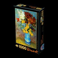 Puzzle Van Gogh : Fleurs dans un Vase Bleu
