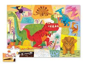 Puzzle dinosaure de 36 pièces de la marque Crocodile Creek.