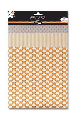 Cet assortiment de 3 feuilles adhésives Mandarine Stick Pop Maildor sera idéal pour vos créations de scrapbooking