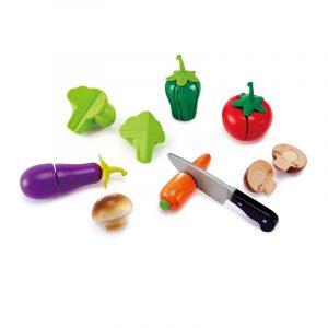 Légumes à découper en bois pour le jeu d'imitation