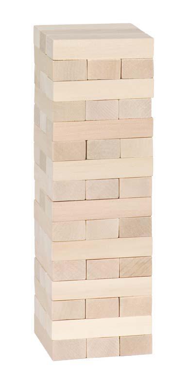 Célèbre jeu d'équilibre, La Tour Chancelante est un grand classique des jeux en bois.