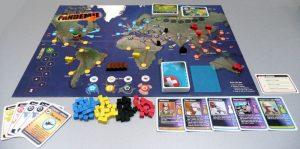 Pandémie est un jeu de plateau et de stratégie coopératif. Vous et vos compagnons faites partie d'une équipe d'élite combattant quatre maladies mortelles.