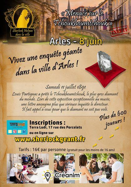 enquête géante dans la ville d'Arles