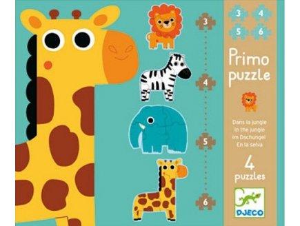 Puzzle Primo : dans la Jungle
