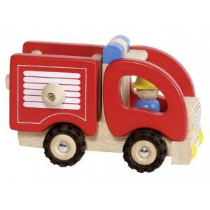 Camion de Pompier Goki en bois