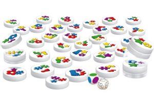 Clac Clac ! est un jeu d'observation et de rapidité rigolo basé sur des petits disques aimantés qu'il va falloir empiler rapidement dans votre main.