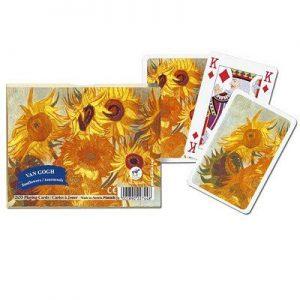 Coffret 2 jeux de 52 cartes Van Gogh Les Tournesols