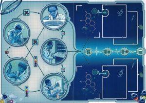 In Vitro est une extension du jeu de plateau Pandémie.