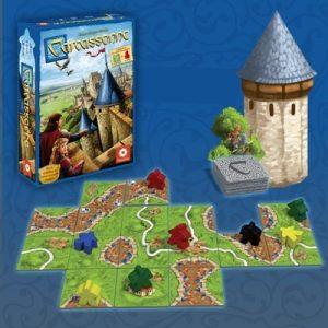 Carcassonne est le grand classique des jeux pour stratèges constructeurs. Il est très simple à jouer et procure des parties toujours différentes.
