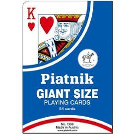 Jeu de 52 cartes géantes avec 2 jokers.