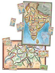 Les Aventuriers du Rail - Inde & Suisse est une extension pour les Aventuriers du Rail permettant de jouer sur de nouvelles cartes.