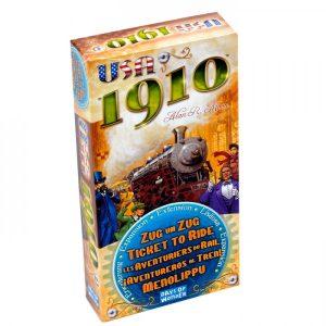 1910 est une extension pour le jeu de société Les aventuriers du rail USA.