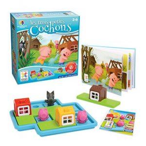 Les Trois Petits Cochons est un jeu de réflexion idéal pour les jeunes enfants