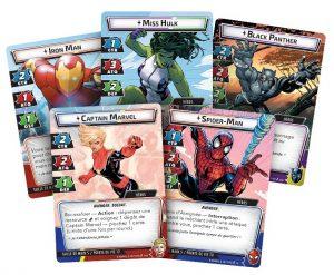 Marvel Champions est un Jeu de Cartes Évolutif coopératif dans lequel vous incarnerez les héros les plus emblématiques du monde !