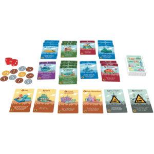 jeu de cartes de construction de villes