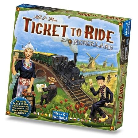 Les Aventuriers du Rail - Les Pays Bas est une extension pour les Aventuriers du Rail permettant de jouer sur une nouvelle carte.