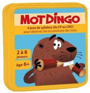 Motdingo est un jeu de cartes pédagogiques pour construire des mots du CP au CM2.