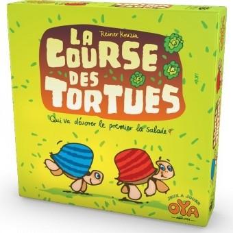 La course de tortues est un jeu de parcours où les joueurs doivent amener en premier leur tortue dans le champ de salade.