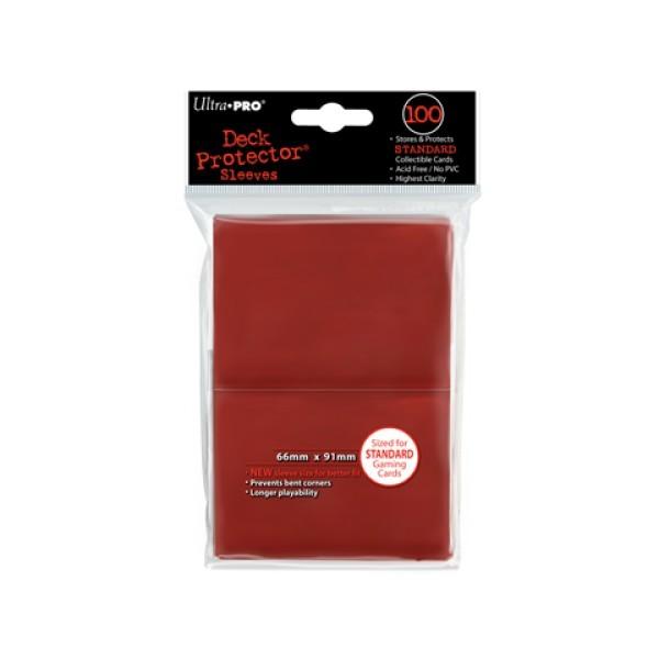 100 Protèges Cartes Rouge