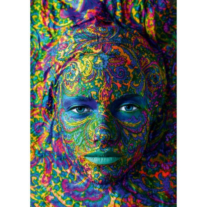 Puzzle Portrait of Woman