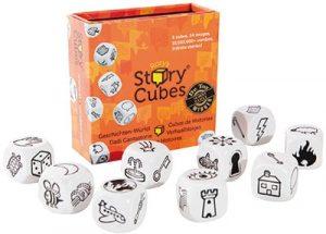 Story Cubes est un petit jeu de dés sans enjeu, juste pour favoriser l'imagination et l'expression.
