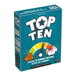 Top Ten est un jeu d'ambiance coopératif, innovant et drôle !